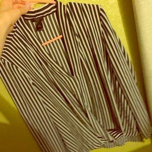 Striped Ann Taylor LP blouse